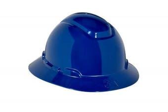 (Navy Blue) - 3M Full Brim Hard Hat H-810R, 4-Point Ratchet Suspension, Navy Blue