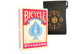 (Pink) - Coloured Bicycle Playing Cards - Classic Rider Back Design- Includes Cascade Card Bag (Pink)
