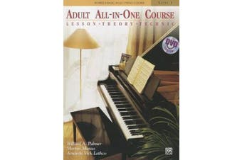 Alfred's Basic Adult All-In-One Course, Level 1: Lesson, Theory, Technic (Alfred's Basic Adult Piano Course)