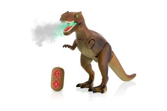 Advanced Play Jurrasic World Dinosaur Toy Realistic Walking Tyrannosaurus Rex Multifunction RC Trex Toy Figure with Roaring Spraying Function Good Dinosaur Toys for Boys Girls Ages 3+