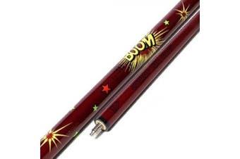 (Red) - Black scorpion CUESOUL 120cm Junior Children Billiard Cue Stick with Colourful Firework Graphic Design(C.QG.G404)
