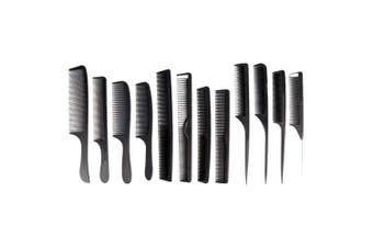 Hair Comb, 12PCS New Fashion Black Combs Hairdressing Styling Hair Cutting Barber Stylist Tools Set