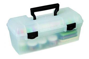 ArtBin 83805 Essentials Lift-Out Tray Storage Box, Black Latches