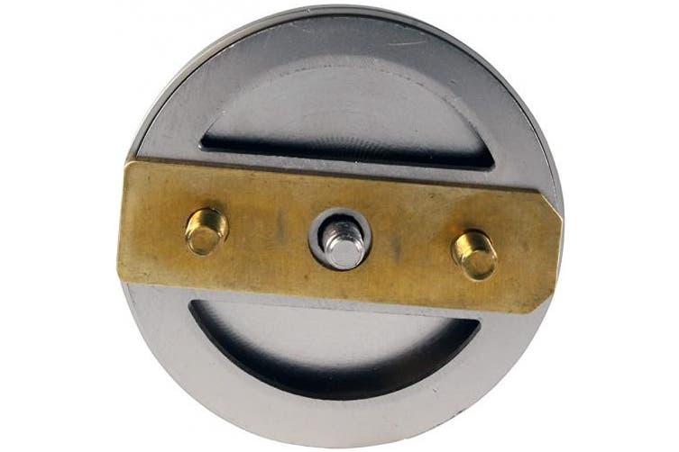 (Satin Nickel) - Westbrass Mushroom Tip-Toe Tub Trim Set with Floating Faceplate, Satin Nickel, D398RK-07