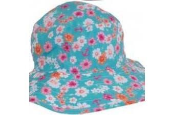 Banz Carewear Reversible Sunhat: Kidz size, Floral Mint