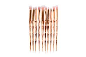 (Rose Gold) - LHEI 10 Pcs Rose Gold Makeup Brush Set Professional Eye Makeup Brushes For Eyeshadow Concealer Eyeliner Brow Blending Brush Tool (Rose Gold, Promotion)