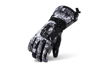 (Black graffiti, L(Youth/Women/Height 150~170cm)) - VERTAST Kids Mens Womens Windproof Winter Warm Gloves Weather Proof Snow Ski Cycle Gloves