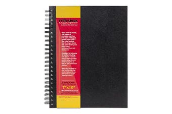(18cm  x 25cm , Single Book - Double Wire Sketch Book) - Creative Mark Reflexions Double Wire Sketch Book Journal Textured Paper For Pen, Ink, Coloured Pencil, Drawing Chalks, Pastels, Graphite - [Black - 18cm x 25cm ]