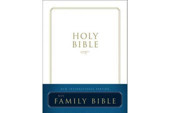 NIV, Family Bible, Hardcover, Red Letter Edition