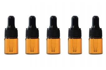 (5ml (0.17 Oz)) - Wowlife Amber Glass Dropper Bottles for Essential Oils/Perfume Refillable Empty Amber Bottle DIY Blends Glass Bottles