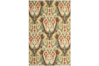 (0.3m x 0.6m, Teal/Green) - Safavieh Chelsea Collection HK378A Hand-Hooked Teal and Green Premium Wool Area Rug (0.3m x 0.6m)