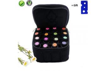 (Black) - Essential Oils Carrying Case Fashion Travel Case Essential Oil Little Case Hold 16 Bottles(5ml-10ml)