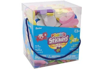 (Flowers and Friends) - Darice 1040-76 Bucket of Foamies Stickers, Flowers and Friends, 150ml