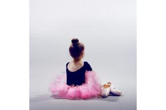 Beaute Galleria 3 Pieces Mini Kids Hair Donut Bun Maker Ring Style Mesh Chignon Ballet Sock Bun (Beige/Blonde)