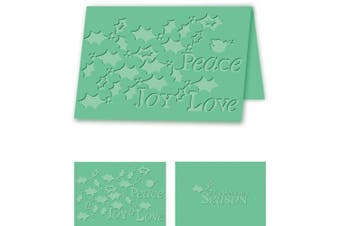 Craftwell USA Holiday Holly Embossing Folder, 21cm by 30cm