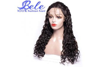(50cm , Water Wave Wig) - Bele Pre-Plucked Brazilian Water Wave Lace Front Wigs 150% Density 100% Unprocessed Human Virgin Hair Lace Frontal Wigs With Baby Hair 50cm