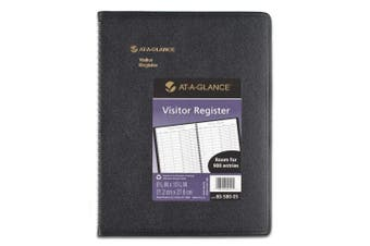 AT-A-GLANCE 8058005 Recycled Visitor Register Book, Black, 8 1/2 x 11