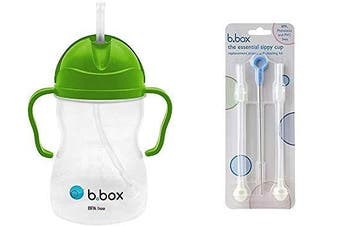 (Apple) - B. Box Essential Sippy Cup - with Replacement Straws and Cleaner (Apple)