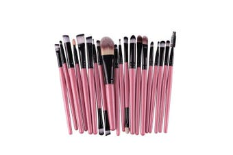 (Pink+Black) - AMarkUp 20 Pcs Pro Makeup Brush Set Powder Foundation Eyeshaow Eyeliner Lip Conclear Cosmetics Blending Brushes (Pink+Black)