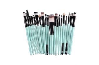 (Green+Black) - AMarkUp 20 Pcs Pro Makeup Brushes Set Powder Foundation Eyeshadow Eyeliner Lip Cosmetic Clearance Brush (Green+Black)