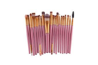 (Pink+Gold) - AMarkUp 20 Pcs Pro Makeup Brushes Set Powder Foundation Eyeshadow Eyeliner Lip Cosmetic Clearance Brush (Pink+Gold)