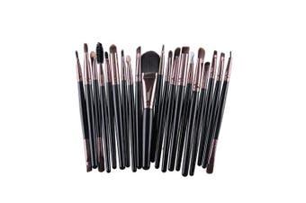 (Black+Coffee) - AMarkUp 20 Pcs Pro Makeup Brush Set Powder Foundation Eyeshadow Eyeliner Lip Clearance Cosmetics Brush (Black+Coffee)