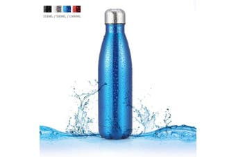 (Blue, 1000ML) - Insulated Stainless Steel Water Bottle Cola Shaped Portable Water Cup for Outdoor Sports Camping Hiking Cycling Picnic