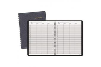 Recycled Four-Person Group Undated Daily Appointment Book, 8-1/2 x 11, Black