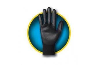 (1) - Kimberly Clark 13840 Jackson Safety G40 Polyurethane-Coated Gloves, 2475195, X-Large, Black with Black Hem