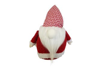 (Red) - 3Cats Designs Stuffed Santa Claus Gnome Doll - Plush Christmas Decoration (Red)