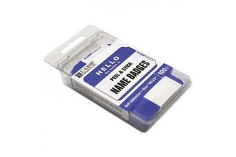 C-Line Products Inc CLI92235 C Line Self Adhesive Blue Name Badges Hello Pack Of 100