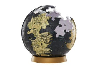 (7.6cm ) - 4D Cityscape Game of Thrones (GoT) 3D Westeros and Essos Globe Puzzle, 7.6cm