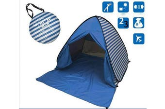 (Dark blue) - YBK Tech New Stripe Style Automatic Pop Up Beach Tent UV Protection Instant Portable Quick Cabana Sun Shelter for 2-3 Persons