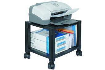 Kantek PS510 Mobile Printer Stand, Two-Shelf, 17w x 13 1/4d x 14 1/8h, Black