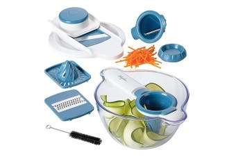 Ayesha Curry 47504 Collection Mandoline & Spiralizer, 5in1, Twilight Teal