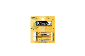 (Beeswax) - Chap Ice Lip Balm - Soothes, Protects and Moisturises - 12 sticks (Beeswax)