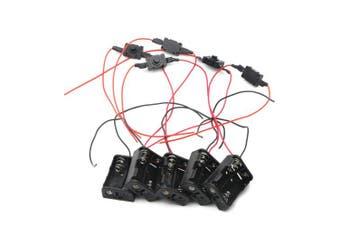 Senmod 24V Battery Holder Storage Case Box 23A 2x12V Battery in Series Wired ON/Off Switch, 24V Battery Holder, 23A Battery Holder, Pack of 5