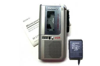 Sony M-677V MicroCassette Recorder Refurbished With Power Adapter