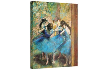 (36cm  by 46cm ) - ArtWall Edgar Degas 'Dancers in Blue' Gallery-Wrapped Canvas, 14x18