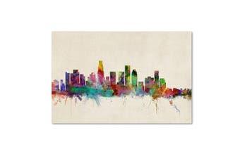 (30cm  by 48cm ) - Los Angeles, California by Michael Tompsett, 30cm by 48cm Canvas Wall Art