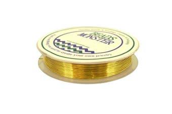 (26 Gauge, Gold) - Golden Copper Wire for DIY Jewellery Findings Beading Earrings Bracelet Necklace Making, Gauge 26, 10m/Roll