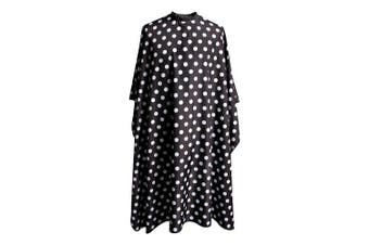 (Black and White Dots) - SMARTHAIR Professional Salon Cape Polyester Baber Cape Hair Cutting Cape,140cm x 160cm ,Black and White Dots,C375001C