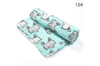 (Fox) - Borlai Muslin Squares, Soft Cotton Blanket Muslin Swaddle Gift for Baby Boys Girls