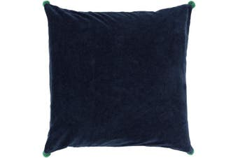 (Down Fill, 46cm  46cm , Navy) - Surya VP004-1818D Down Fill Pillow, 46cm by 46cm , Navy/Emerald/Kelly Green
