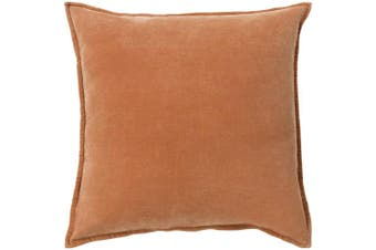 (Down Fill, 46cm  46cm , Rust) - Surya CV002-1818D Down Fill Pillow, 46cm by 46cm , Rust