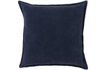 (Poly Fill, 60cm  60cm , Navy) - Surya CV009-2222P Synthetic Fill Pillow, 60cm by 60cm , Charcoal