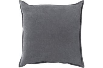 (Down Fill, 60cm  60cm , Charcoal) - Surya CV003-2222D Down Fill Pillow, 60cm by 60cm , Charcoal
