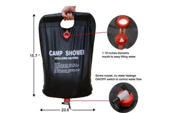 (20L) - Zoeson Outdoor Camping Shower Bag for Hiking & Camping