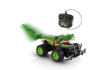 Advanced Play Cool Dinosaur Remote Control Toy Car for Kids 4WD Off Road Vehicle Monster Truck 1/18 Scale High Speed Rc Cars for Adults Toddlers Boys and Girls