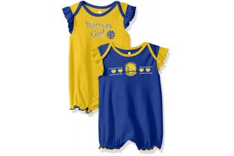 (Golden State Warriors, 24 Months, Blue) - NBA by Outerstuff NBA Newborn & Infant Homecoming 2pc Bodysuit Set
